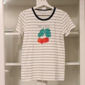 J.Crew T-Shirt 'Mon Cheri' Striped Collectors S
